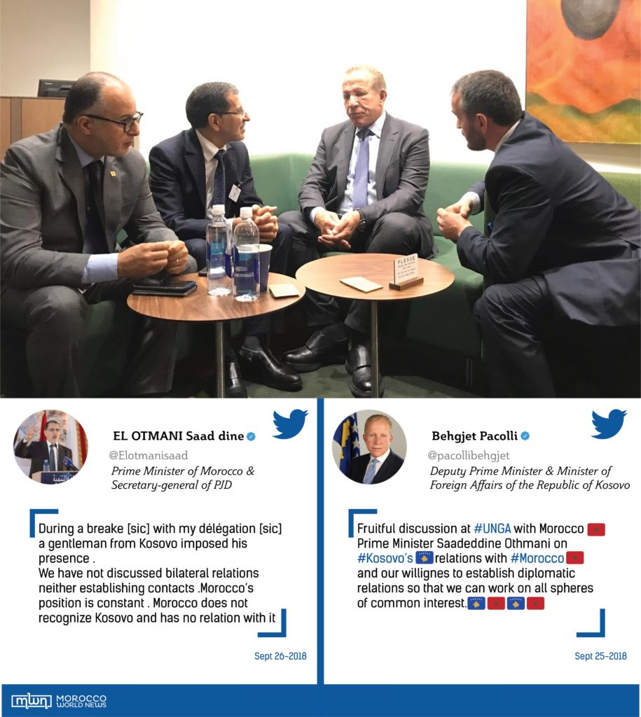 El Othmani Attempts to Rectify Tweet on Unnecessary Meeting with Kosovo Official at UN