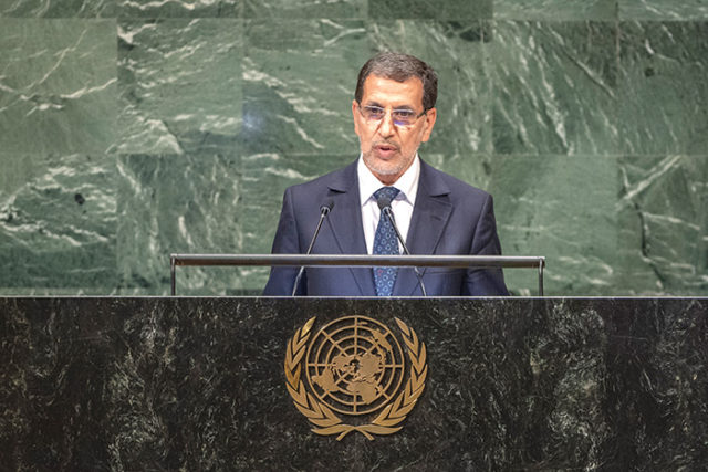 UN: El Othmani Addresses Algeria, 'Tragic' Sahrawi Situation in Tindouf