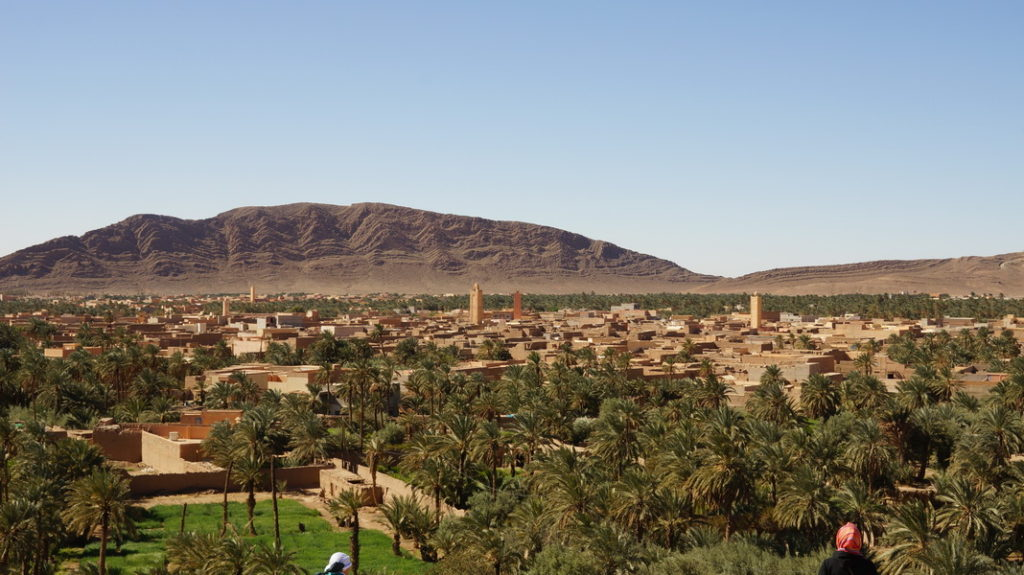Landscape showing Ksar of Zenaga