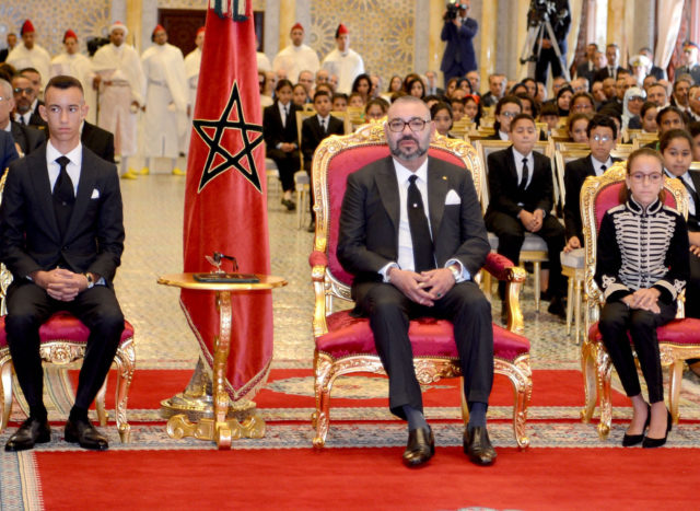 Morocco's Princess Lalla Khadija took part in her first official ceremony alongside her father, King Mohammed VI.