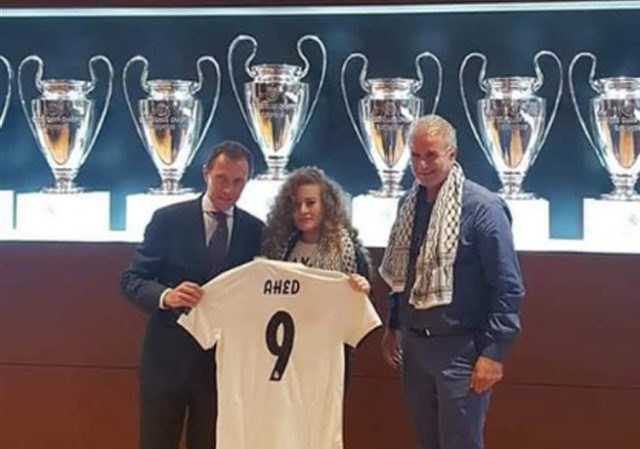 Real Madrid Receives Palestinian Icon Ahed Tamimi