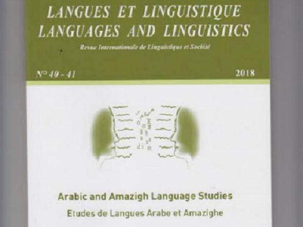 Language and Linguistics Journal Studies Tamazight in School Books