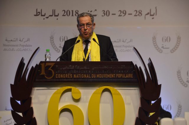 Morocco's Popular Movement Party Re-Elects Laenser for 9th Term