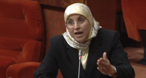 Bassima Hakkaoui Defends Herself Against Blind Protesters