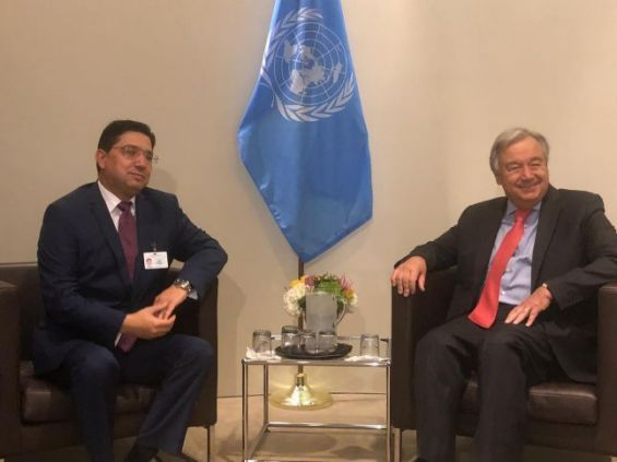 UN Chief Meets Bourita, Salutes Morocco's Support for UN Initiatives