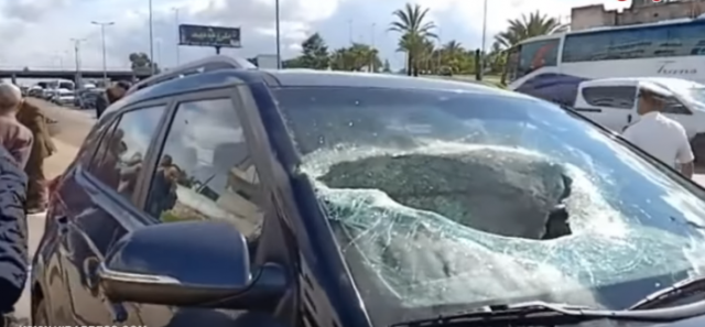 Bridge Collapses on a Car on A3 Highway in Casablanca