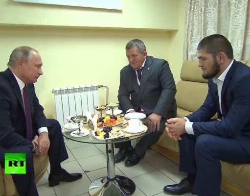 Putin Warmly Congratulates MMA Fighter Khabib Nurmagomedov