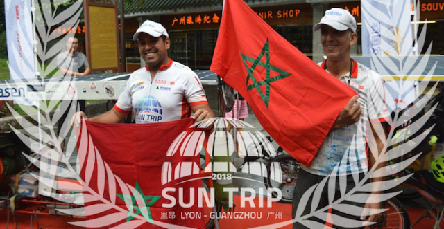 Two Moroccans Travel from France to China on Solar Power Bikes