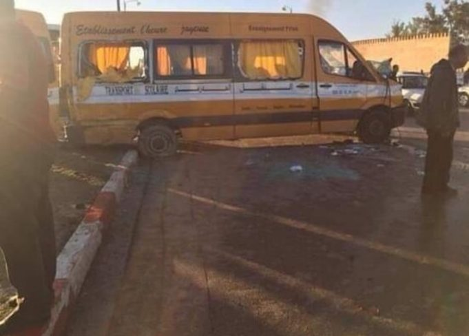 School Bus Accident Injures 3 Children in Meknes