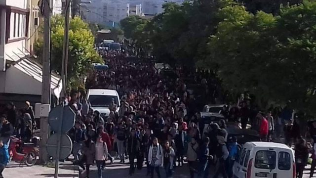 Moroccan Students March in Protests of GMT+1