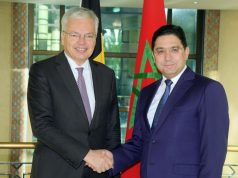 Didier Reynders and Nasser Bourita