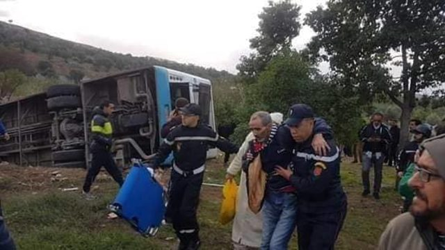 Bus Fight in Fez Causes Accident, Injures 12
