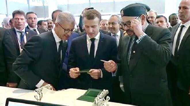 King Mohammed VI Emmanuel Macron