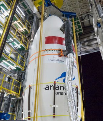 First Photos of Mohammed VI-B Satellite Installation Emerge Before Launch
