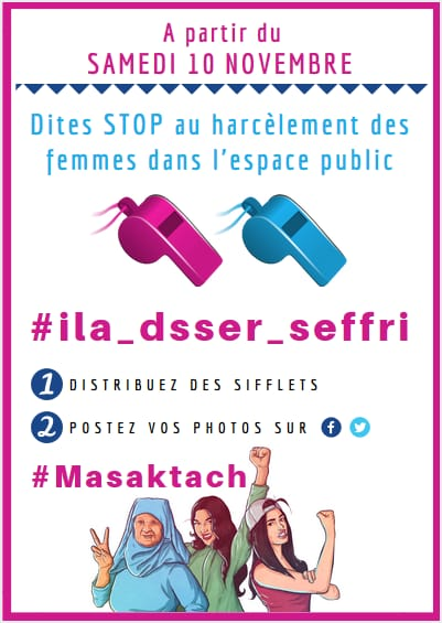 Morocco's #Masaktach Campaign Invites Women to Use Whistles If Harassed
