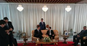 El Othmani Receives Spanish Prime Minister Pedro Sanchez