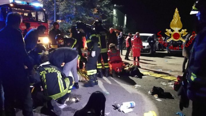 Six dead and dozens hurt in nightclub stampede in Italy