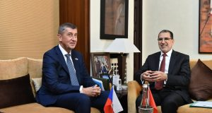 Morocco's Head of Government Saad Eddine El Othmani and Czech Prime Minister Andrej Babis