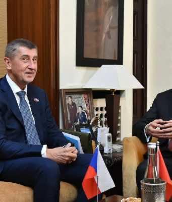 Morocco's Head of Government Saad Eddine El Othmani and Czech Prime Minister Andrej Babis