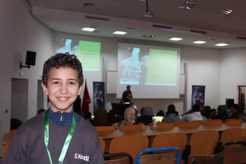Youngest Moroccan programmer, Idder Motii.