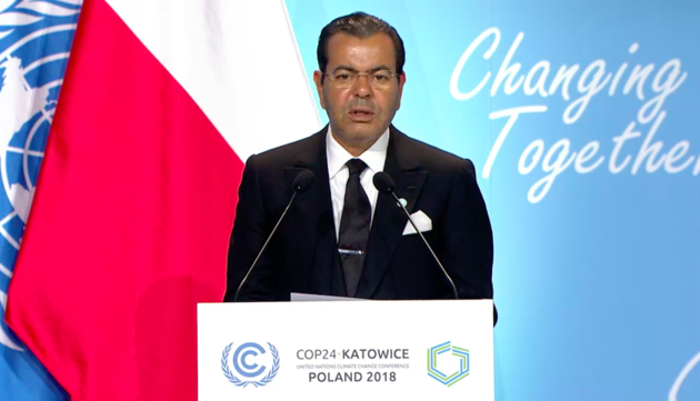 King Mohammed VI Calls For Climate Change Action at UN Framework Convention