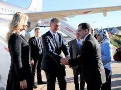 Saad Eddine El Othmani and Czech Prime Minister Andrej Babis