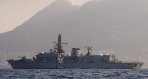 Spanish navy patrol ship sails into Gibraltar