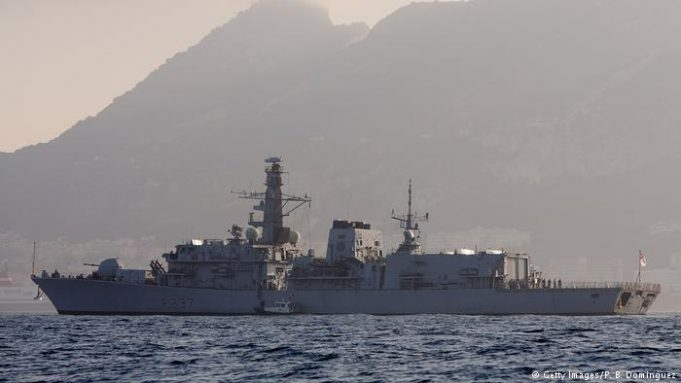 Spanish navy patrol ship sails into Gibraltar