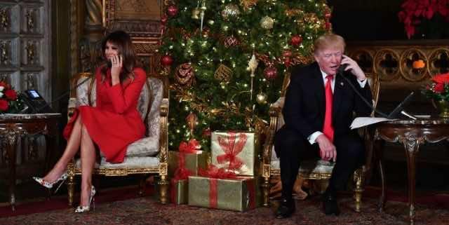 Melania Trump: Santa Is in Morocco