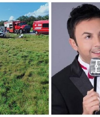 Scene of the accident and Moroccan singer Hatim Idar