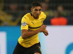 Morocco's Achraf Hakimi, Fastest Footballer in Germany, Runs 35.10 KPH