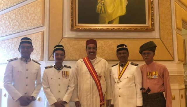 Malaysian State Ruler Awards Morocco's Hassan Ammari Honorary Title