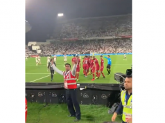 Video: UAE Fans Throw Shoes at Qatar Team in Asian Cup