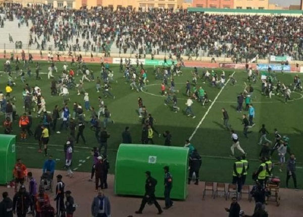 Violent riots in Oujda stadium