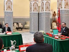 King Mohammed VI at the ministerial meeting.