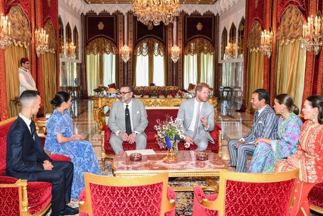 King Mohammed VI Offers Tea Ceremony in Honor of Prince Harry,DuchessMeghan