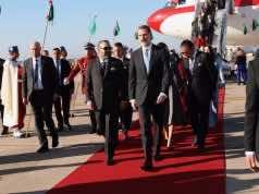 King Felipe VI, Queen Letizia of Spain Arrive in Morocco