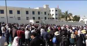 The teachers' coordination protest in Rabat