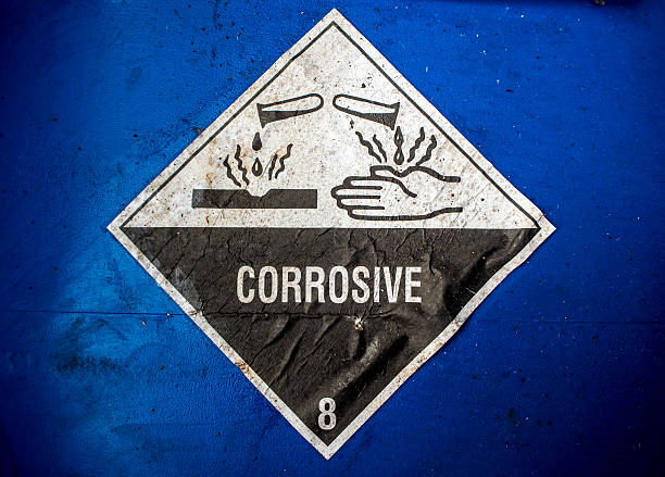 Corrosive material sign