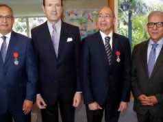 From left: Khammar Mrabit, Jean-Francois Girault, Chakib Guessous, Omar Ait Salah