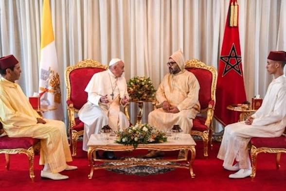 King Mohammed VI Receives Pope Francis