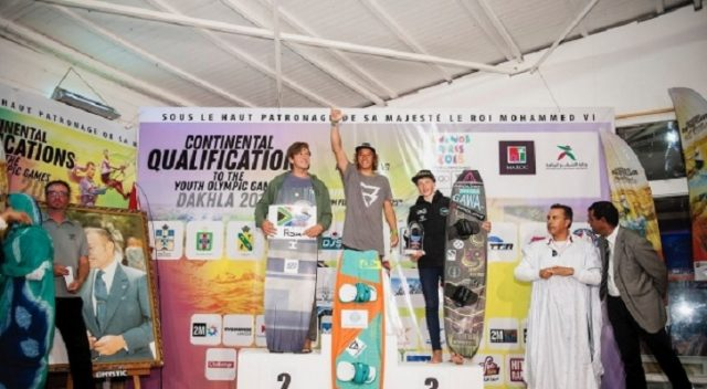 The winners of the Dakhla kitesurf contest.