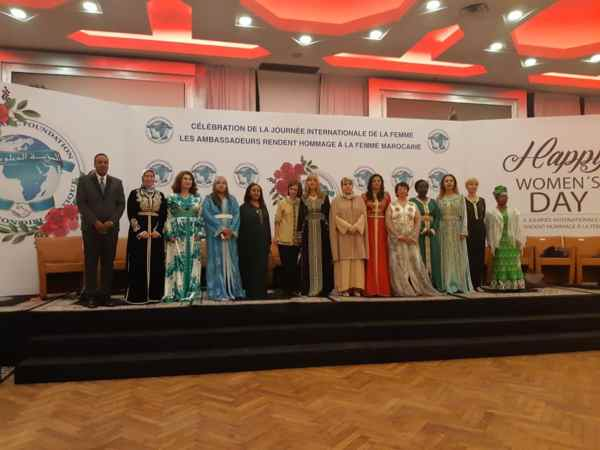 Women Ambassadors to Morocco Celebrate Women's Day in Moroccan Caftans