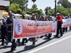 doctors protesting in Rabat on May 1