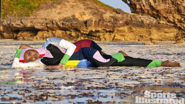 Halima Aden in a burkini for Sports Illustrated