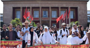 Moroccan Contractual Teachers to Keep Striking Until April 25