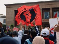 Teachers' protest in Rabat