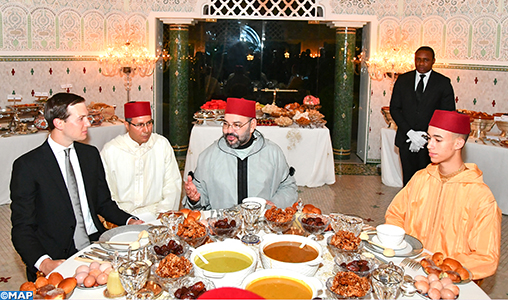 King Mohammed VI Hosts Iftar in Honor of Jared Kushner in his private residence in Sale