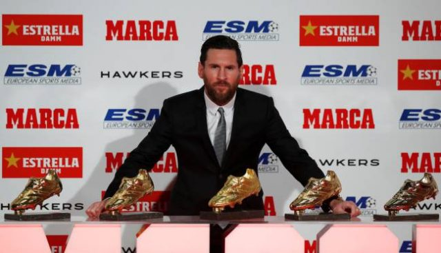 Messi Wins European Golden Shoe for 3rd Consecutive Time