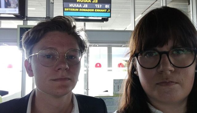 Vegard Fosso Smievioll and Kjersti Brevik Moller, two law students from Bergen, were denied entry into Laayoune and deported on Sunday.